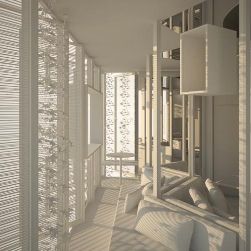 """Un esempio in mostra a """"Stanze. Altre filosofie dell'abitare"""", in Triennale, a cura di Lazzarini Pickering Architetti"""