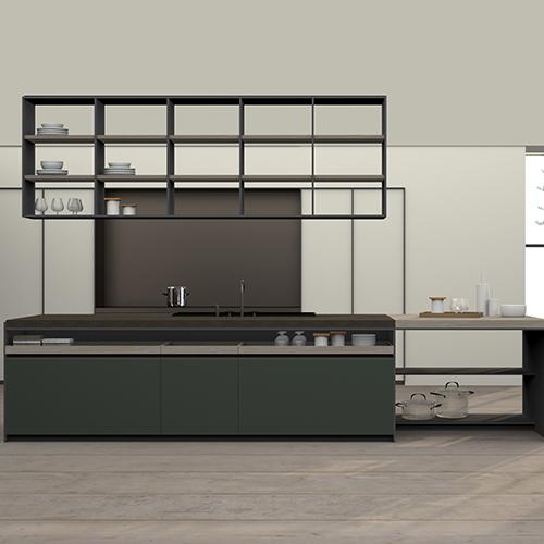 Vincent Van Duysen, il corteggiato designer belga, reinterpreta la cucina H-Line, il bestseller di Dada, e progetta HI-Line VVD: i moduli a vista hanno fianchi sottili in contrasto con il piano di lavoro di notevole spessore