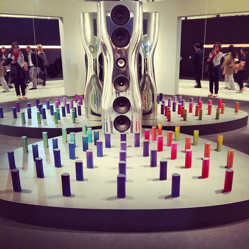 Altoparlanti coloratissimi al Super Design Show di Kef