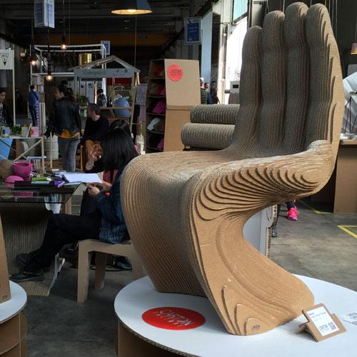 Sedia in cartone di Carton Factory