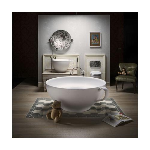 Park Avenue dedica un'intera collezione bagno ai più piccoli. Le dimensioni di lavabo, vasca, consolle sono a misura di bambino, mentre le forme, i dettagli e i decori sono ironici e divertenti e trasformano la stanza da bagno in uno spazio di gioco