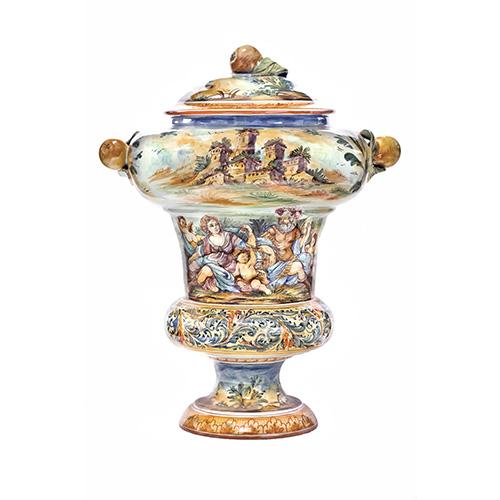 Vaso policromo della tradizione ceramica di Albisola di Ernesto Canepa, categoria Ceramica