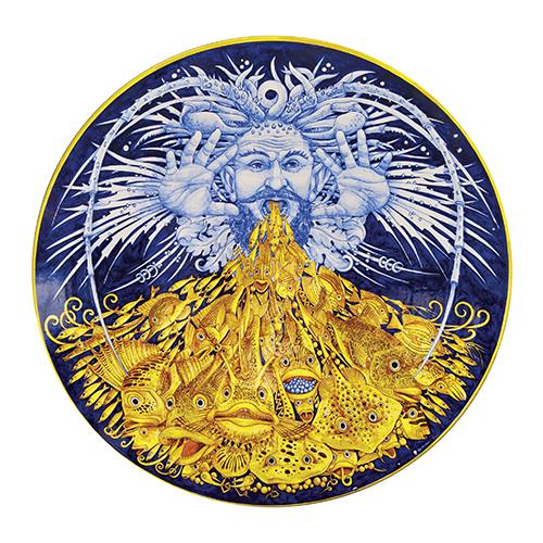 Piatto Nettuno di Francesco Raimondi, categoria Ceramica