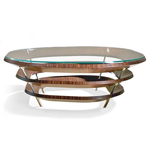 Tavolino ad anelli di Giordano Viganò, categoria Legno e arredo