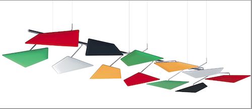 FlaP, categoria Design per il lavoro, progettato da Alberto Meda e prodotto da Caimi Brevetti.    Compasso d'Oro per un sistema versatile e libero che indica una nuova soluzione per un problema invisibile come i suoni e i rumori