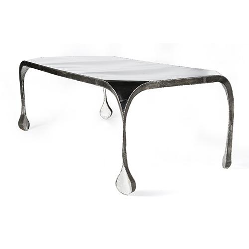 """Tavolo """"Light Table"""" acciaio lucidato a specchio e acciaio dolce di Ron Arad - Valutazione: 30.000/40.000 euro"""
