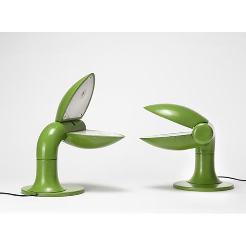 """Coppia di lampade modello """"Quebec"""" di Carla Venosta (1970 circa) - Valutazione: 600/700 euro"""