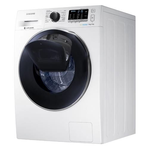 Samsung, AddWash Lavasciuga (modello WD 90K6400 OW). Questa lavatrice e asciugatrice ha una capacità pari a 9 kg per il lavaggio e 6 per l'asciugatura. Le sue misure sono 60 di altezza, 85 di larghezza e 65 cm di profondità