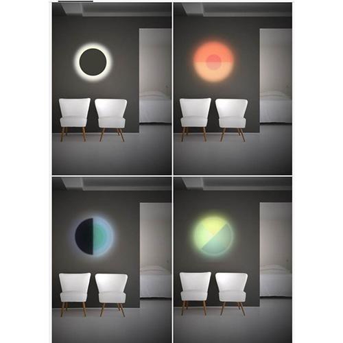 Iris, lampada con dischi colorati intercambiabili. Prototipo di Veronica Fasulo per Design Competition
