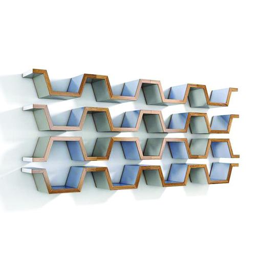 Endless, ripiano modulare in legno massello. Prototipo di Raffaele Familari per Design Competition