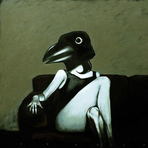 Marco Cazzato, Raven, 2014, acrilico su tela, 80x100 cm