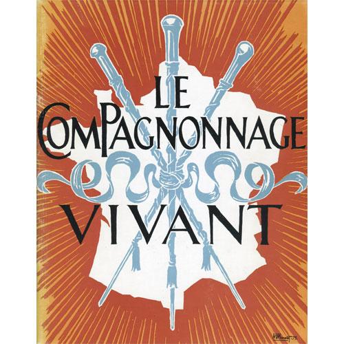 Maurice Minost, illustrazione per il frontespizio del catalogo della mostra Le Compagnonnage vivant, Parigi, Hotel de Sully, maggio - luglio 1973