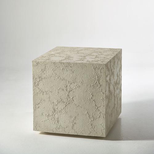 Andrea Salvatori, Square Moon, 2013, semire, sostegni in legno, 61x61x64 cm. Foto Bernardo Ricci