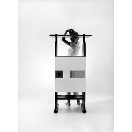 1965 - Mobile legno e ceramica (courtesy Archivio Centro Studi Poltronova)
