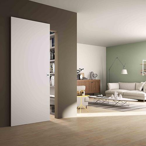 La porta salvaspazio -  Rolling Magic, il sistema di porte scorrevoli a parete per esterno muro e con binario invisibile, è pensato per gli ambienti piccoli e i passaggi ridotti. Questa soluzione salvaspazio progettata da FerreroLegno è anche caratterizzata da un montaggio semplice e veloce