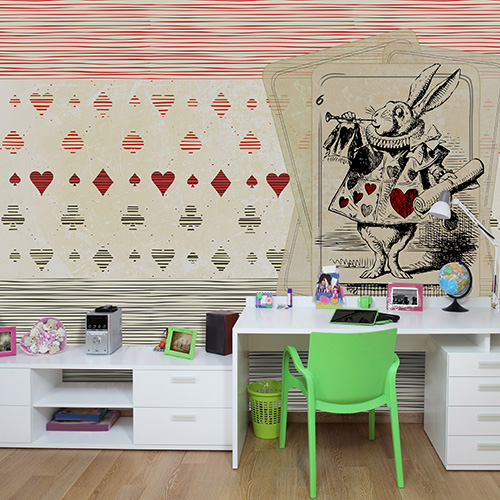 Carte da parati 20 idee per una cameretta da sogno casa design - Decorazioni camera ragazza ...