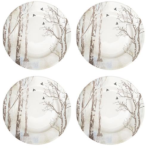 La collezione Faded Dreams di Easy Life richiama lo spirito autunnale per la scelta dei colori tenui e delicati e per le decorazioni che citano la corteccia degli alberi