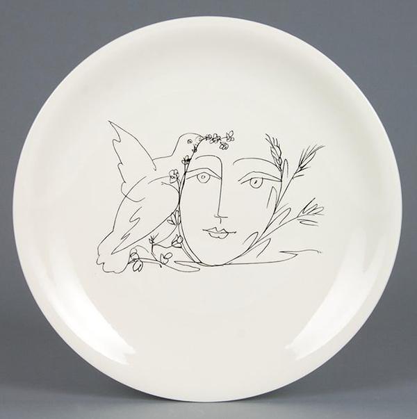 Pablo Picasso, Colomba della pace con volto, 1955