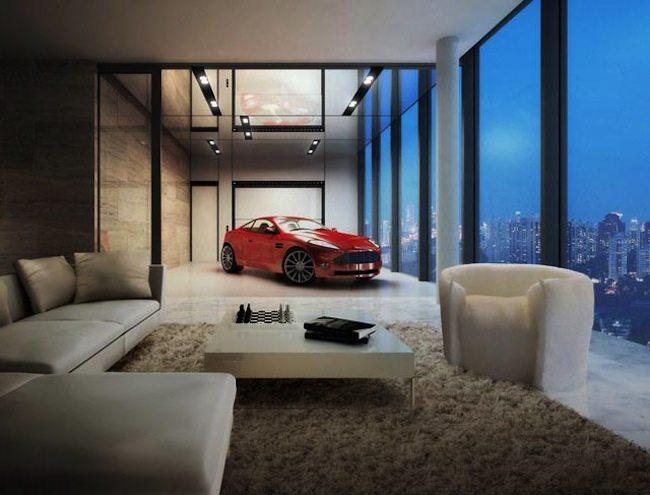 10. La casa con parcheggio interno per le auto di lusso