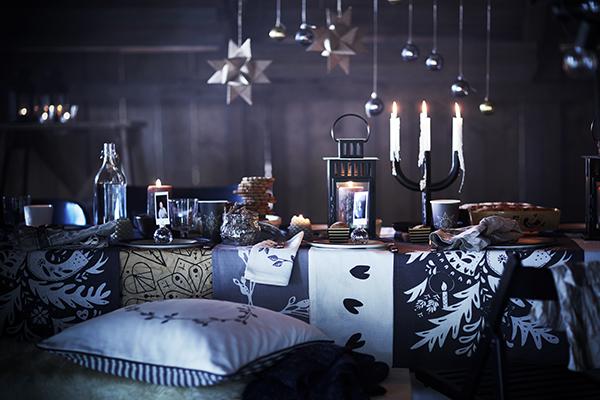 Ikea punta su un insolito contrasto di colori per la stagione delle feste: il nero accostato al bianco