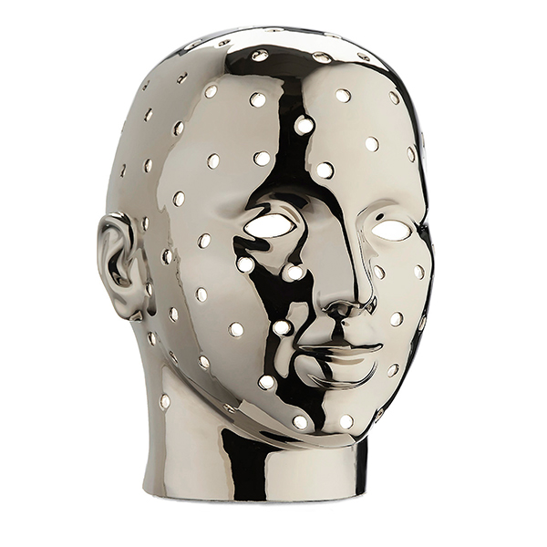 Urano è un'originale lampada con le sembianze di volto umano. Disegnata da Simone Micheli per Marioni Home Collection