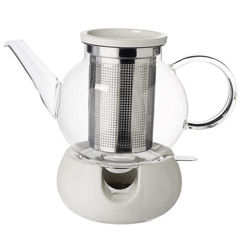 Ogni amante del tè ne possiede diverse: la teiera di Villeroy&Boch è dotata di infusore e scaldino (da 37,90 euro)