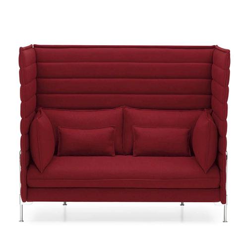 Come un divano può diventare una camera all'interno di una stanza. È l'idea dei fratelli Bouroullec per Vitra con la serie Alcove che si caratterizza per spalliere avvolgenti e isolanti. Love Seat è la versione due posti