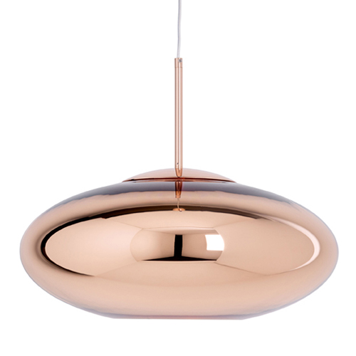 Sospensione Copper Wide di Tom Dixon (570 euro, in vendita su www.madeindesign.it)