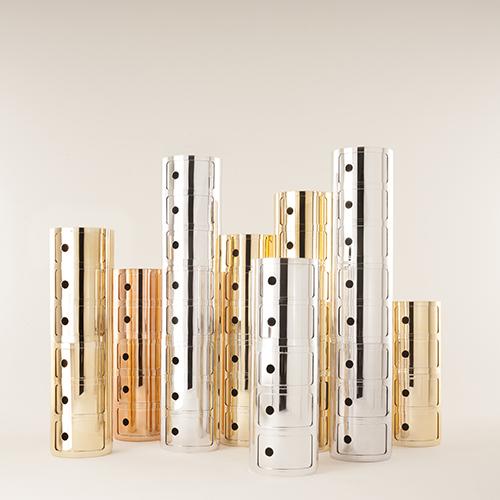Nel 2014 i Componibili entrano a far parte della collezione Precious caratterizzata da finiture metal
