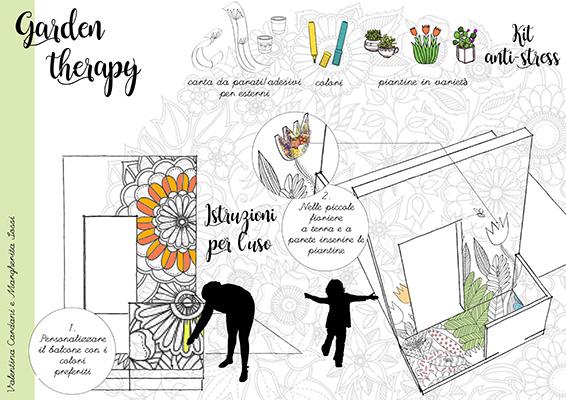 """Torna anche nel 2017 <em>Balconi per Roma</em>, il concorso di progettazione destinato agli under 30 che seleziona proposte sperimentali di balconi in città.Tra le proposte più originali il <em>Garden Therapy di</em>Valentina Cardani <span class=""""il"""">e</span> Margherita Sossi dello studio <a href=""""http://paesaggi-design.blogautore.repubblica.it/"""">Patrizia Pozzi</a>: i muri sono rivestiti con carta da parati da colorare"""