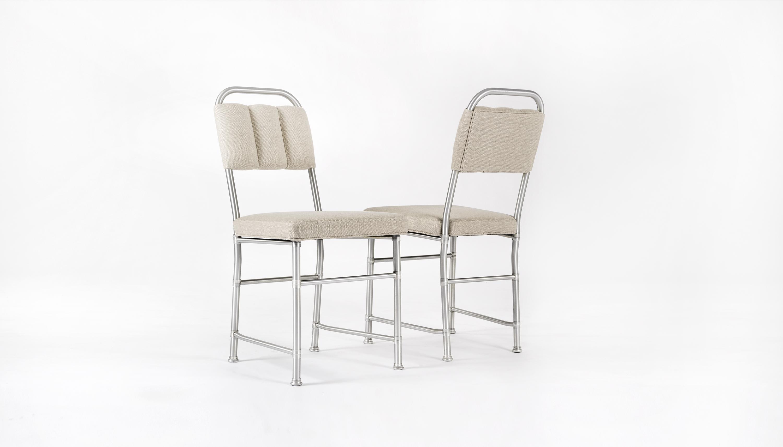 Set 12 sedie - Alluminio e rivestimento - 12.000/16.000 euro