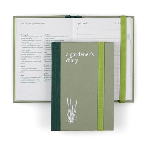 Per non dimenticare nulla e annotare mese per mese semine, raccolti, appunti, consigli. È Gardener's Diary di Fabriano boutique, arricchito da una tasca con delle bustine per riporre i semi da piantare nel periodo opportuno (14,80 euro)
