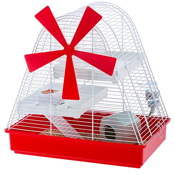 Anche i criceti trovano un posto originale e divertente in casa con la gabbia Magic mill di Ferplast