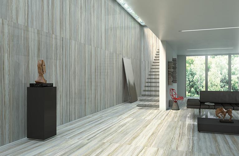 Transalp di Monocibec si ispira al pregiato marmo evidenziandone sfumature e venature