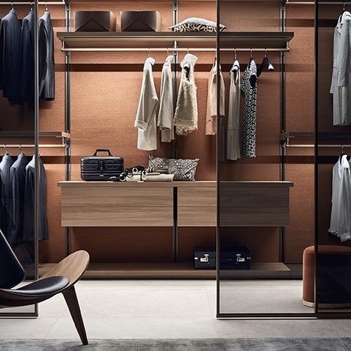 Il sistema per creare cabine armadio <em>Dress bold</em>