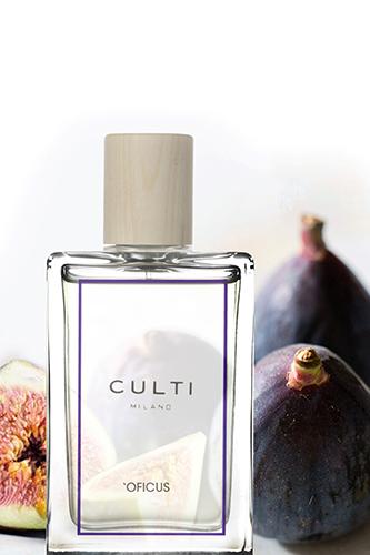 """Nel 2018 la casa ha l'odore di <em>'Oficus</em>, il nuovo profumo firmato <a href=""""http://www.culti.com"""">Culti Milano</a>. La fragranza evoca tiepidi pomeriggi trascorsi all'ombra degli alberi di fico</span></p>"""