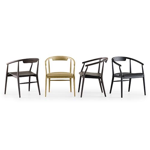"""<a href=""""http://www.bebitalia.com"""">B&B Italia</a> propone una nuova versione realizzata interamente in legno di  <em>Jens</em>, la serie di sedie disegnata da Antonio Citterio"""