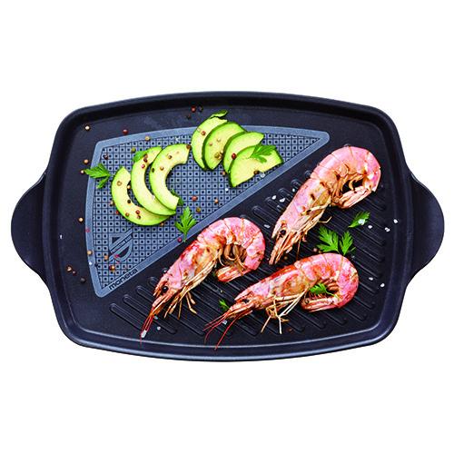 """Per una cucina sana sono da preferire le cotture al vapore, al forno e alla griglia. In foto una proposta di <a href=""""http://www.moneta.it"""">Moneta</a> che cuoce e griglia contemporaneamente  più pietanze"""