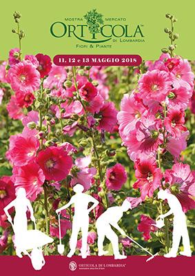 La locandina dell'edizione 2018 di Orticola, la celebre mostra mercato di fiori, piante e frutti insoliti che da 23 anni anima Milano