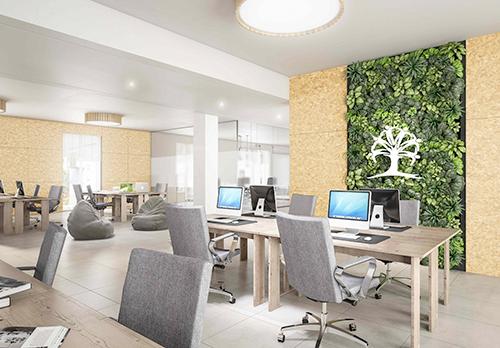Smart living Lainate. Il residence è provvisto di spazi collettivi: salone di aggregazione, asilo nido per i residenti, lavanderia comune, spazio riservato al coworking e sala giochi per bambini