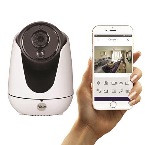La gamma di videocamere Home View di Yale permette di visualizzare la casa da remoto, da smartphone o tablet, in HD