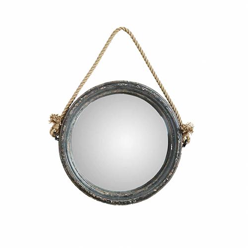 Specchio con corda in iuta