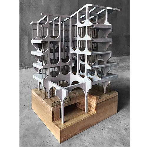 Sezione del modello degli uffici Zhengzhou, un progetto dello studio Neri&Hu