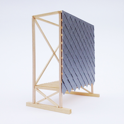 Parte del modello del padiglione H-VAC dello studio PUP Architects
