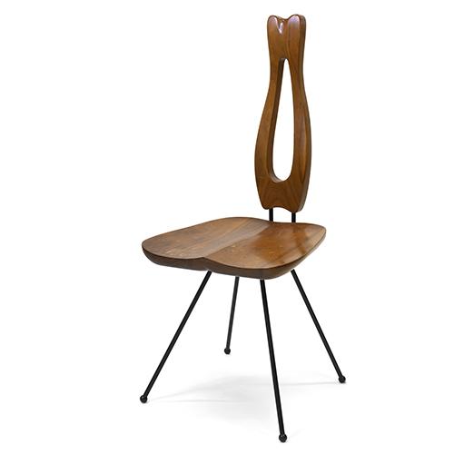 La sedia da pranzo Samisen di Victor J. Papanek 1952 – 1956 (© University of Applied Arts Vienna, Victor J. Papanek Foundation)