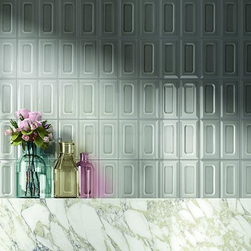 """Il gusto rètro detta ancora tendenza, come la collezione <em>Bowl</em> di <a href=""""http://www.irisceramica.it/"""">Iris Ceramica</a>: piccole piastrelle 10x20 centimetri in 10 tonalità pastello"""
