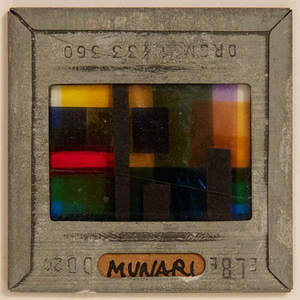 Vetrini a luce polarizzata 1950, materiali vari (courtesy Miroslava Hajek)