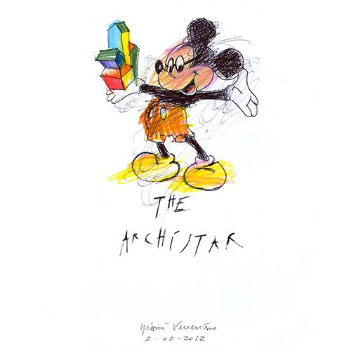 L'interpretazione di GianniVeneziano. Ilprogetto fa parte dell'ampia collezione di disegni <em>Daysign</em>