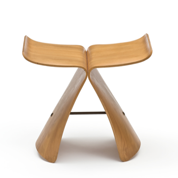 "Yanagi Sori, ""Butterfly stool"" Stool, Japan, Manufactured by TENDO Co. Ltd., Steph Simon Editions, 1956, Musée des Arts Décoratifs © MAD Paris / Photo: Jean Tholance"