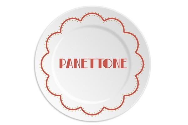 """Panettone o pandoro: è il dilemma che ricorre a Natale. Per chi non ha dubbi il piatto di <a href=""""http://www.ilariai.com"""">Ilaria.i</a> della collezione Special day – Christmas edition (20 euro - è disponibile anche la versione con la scritta <em>Pandoro</em>)"""
